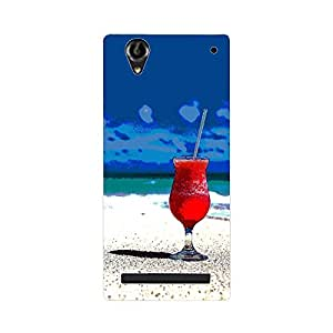 Skintice Designer Back Cover with direct 3D sublimation printing for Sony Xperia T2