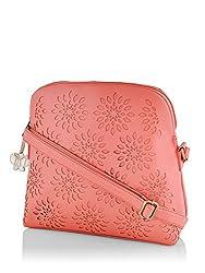 Butterflies Women's Handbag (Laser Dark Peach) (BNS 0541LDPCH)