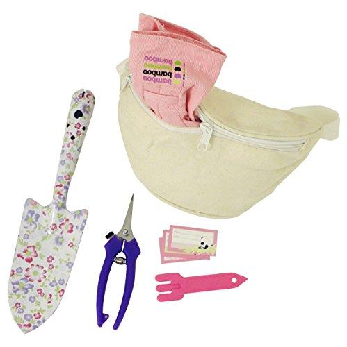 Best purple womens gardening set 5 piece kit trowel for Garden tool set for women