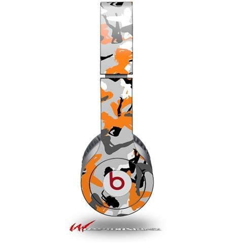 Sexy Girl Silhouette Camo Orange Decal Style Skin (Fits Genuine Beats Solo Hd Headphones - Headphones Not Included