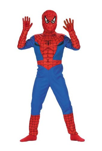 Spiderman Costume, Classic - Size: Child M(7-8)