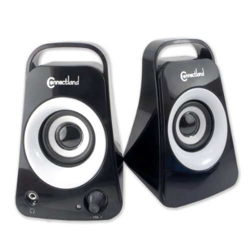 Syba Usb Powered Sereo Sesktop Speakers With Headphone Jack Piano Black Finish (Cl-Spk20115)