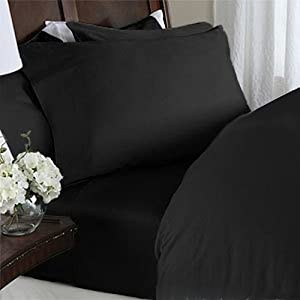 ELEGANT COMFORT® WRINKLE & FADE RESISTANT 1500 Thread Count Egyptian Quality Luxurious Silky Soft 4 pc Sheet set, Deep Pocket Up to 16
