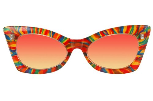 Elope Adult Cheetah Rainbow Sunglasses - 1