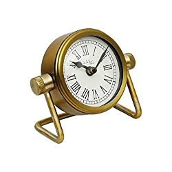 Store Indya Antique Retro Vintage-Inspired Craft Table Clock Home Decor