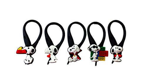 AVIRGO 5 pcs Soft Zipper Pull Charms for Backpack Bag Pendant Jacket Set # 42-3