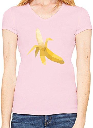 Origami Banana T-Shirt V collo Donne XX-Large