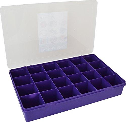 Wham 13805 large compartiments-boîte de rangement 24 compartiments 59,5 x 39,5 x 10 cm violet