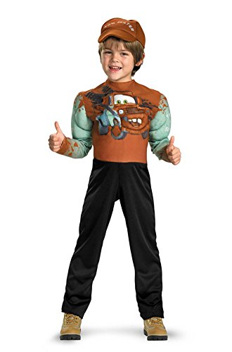 Tow Mater Classic Muscle Costume - Medium (7-8) - 1
