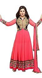 Sanjana Design Women's Georgette Dress Material ( KS6314_Free Size_Pink)