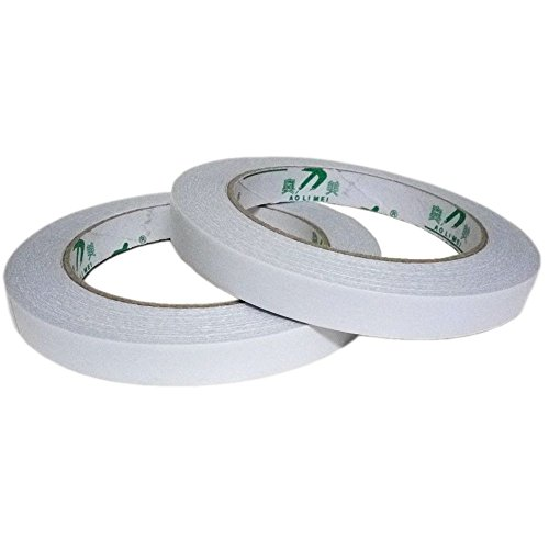 "Aolimei Permanent Double-sided Adhesive Tapes, 1/2"" X 27yards (2 ROLLS)"