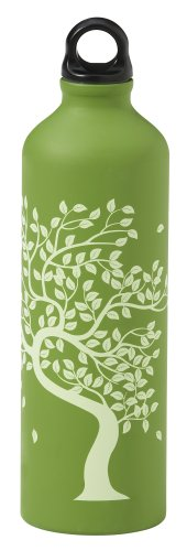 Gaiam 750ml Aluminum Water Bottle (Tree of Life, Poly Loop Cap)