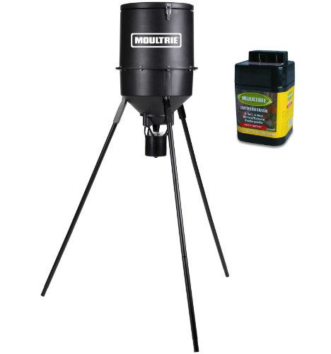 NEW MOULTRIE 30 Gallon Classic 360° Programmable Tripod Deer Feeder w/6V Battery