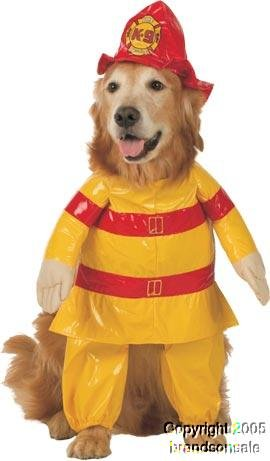 Pet Firefighter Dog Costume For Medium Dogs