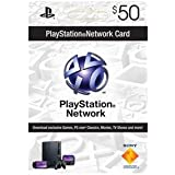 Sony PlayStation 50 dollar live card for the Playstation Network