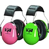 Peltor Kids Ear Defenders. 2 pair pack (1 green/1 pink) Size: fits allby 3M Peltor