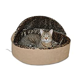 K&H Thermo-Kitty Deluxe Hooded Cat Bed 4-Watts