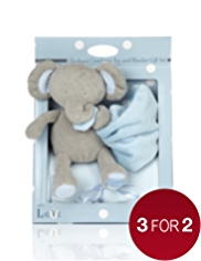 Elephant Comforter Toy & Blanket Gift Set