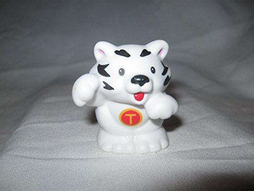 Fisher Price Little People A-Z Alphabet Zoo Animals T Tiger White Tiger Animal OOP 2004 - 1