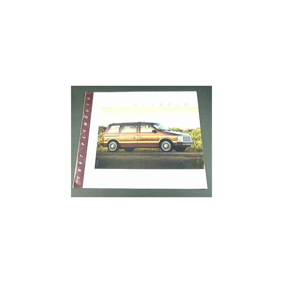 1987 87 Plymouth VOYAGER Van BROCHURE LE Grand SE