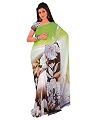 1st Home Multi Color Georgette Printed Saree - B0138A0ZUS