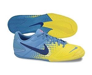 Amazon.com: Nike5 Elastico Indoor Soccer Shoe (Blue Glow/Chrome Yellow