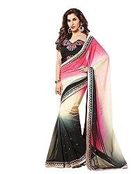 SayShopp Fashion Women's Saree with Blouse Piece (Multicolor)