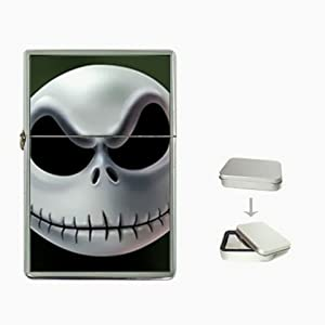 Jack Nightmare Before Christmas W1 Flip Top Lighter and Case Box