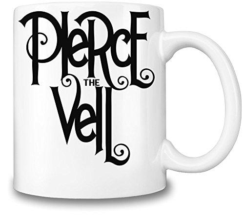 Pierce The Veil Black Logo Tazza Coffee Mug Ceramic Coffee Tea Beverage Kitchen Mugs By Genuine Fan Merchandise