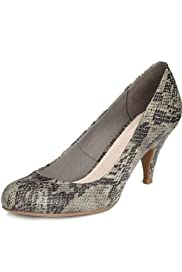 M&S Collection Faux Snakeskin Print Court Shoes [T02-0459A-S]