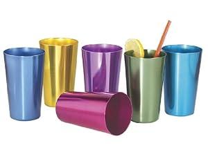Set of 6 Anodized Aluminum Tumblers by Bandwagon