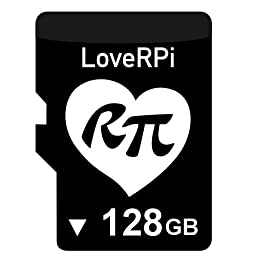 LoveRPi 128GB Raspbian NOOBS UHS-I MicroSD Card with SD Adapter for Raspberry Pi