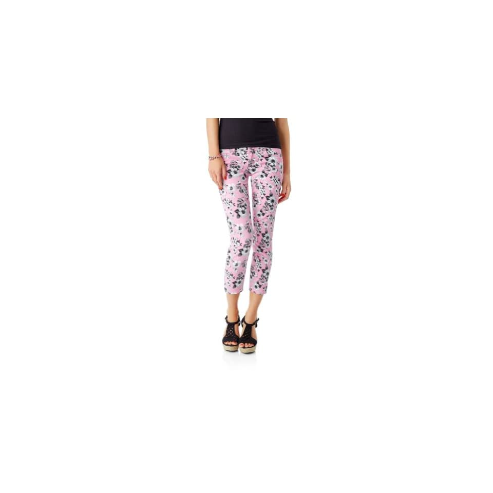 Aeropostale Womens Floral Cropped Casual Leggings 691 3/4x24