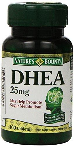 Bounty DHEA de 25mg de Nature, 100 Comprimés (Pack de 2) par Bounty Nature