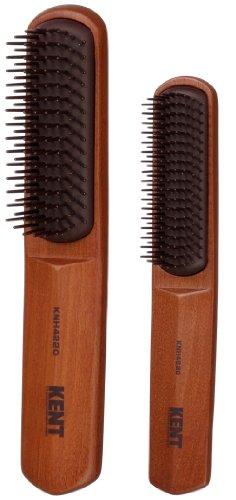 KENT メンズヘアブラシ2本セット KNHー0180G かたさやわらかめ