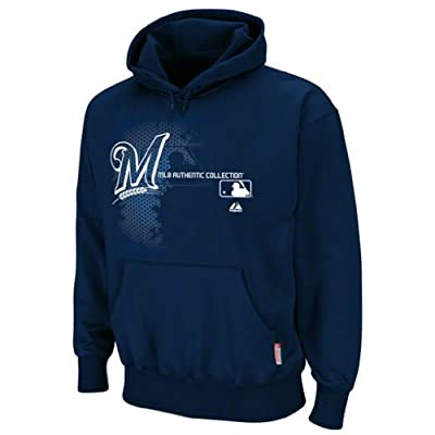 MLB Milwaukee Brewers Authentic Collection Change Up Long Sleeve Hooded Fleece Pullover