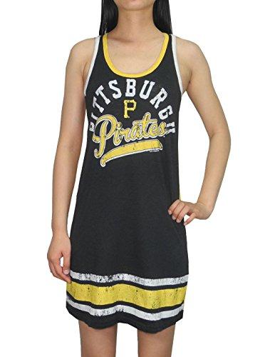 MLB Pittsburgh Pirates Womens Lounge / Pajama Tank Dress (Vintage Look) L Multicolor