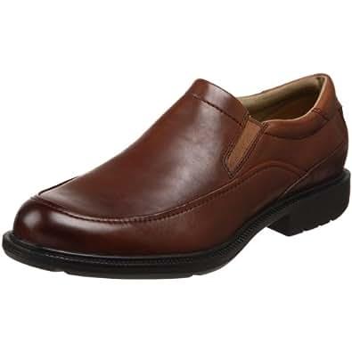 Rockport Men's Wispen Mocc Toe Slip On,Dark Tan,8 W US