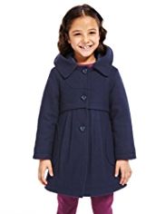 Autograph Hooded Coat with Wool