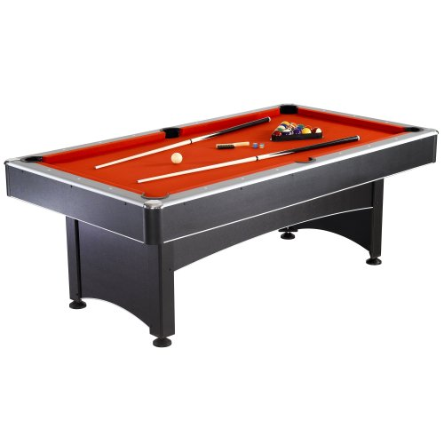 Big Save! Hathaway Maverick Table Tennis and Pool Table, Black/Red/Blue, 7-Feet