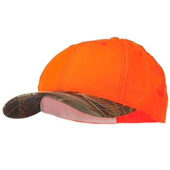 Deer Hunting Camouflage Cap - Orange Camo