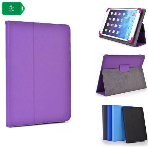 SLIM BOOKSTYLE TABLET COVER CASE PLUS STAND[ PURPLE ] UNIVERSAL FIT ] Linsay 7″ Tablet w/Google Android Jelly Bean