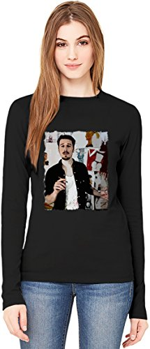 Alligatoah Painting T-Shirt da Donna a Maniche Lunghe Long-Sleeve T-shirt For Women| 100% Premium Cotton Ultimate Comfort X-Large