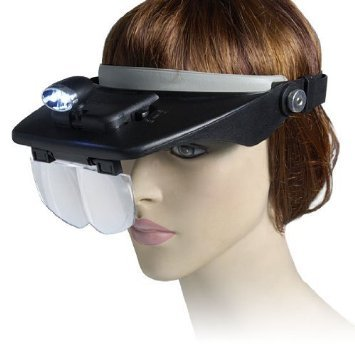 Imonic Headband Headset Led Head Lamp Light Jeweler Magnifier Magnifying Glass Loupe