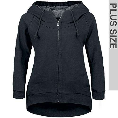 Forplay Zip-Up Longjacket Felpa jogging donna nero XXL