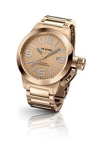 TW Steel TW303 - Reloj analógico de cuarzo unisex con correa de acero inoxidable, color oro rosa