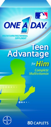 One-A-Day Teen Advantage for Him Multivitamin 80 Caplets,