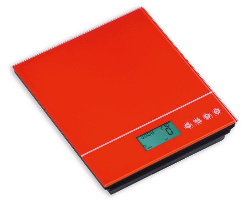 Maison à vivre EK5250-46/5KG Balance 5 Kg Touch Button Rouge