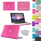 """LOVE MY CASE / NEW HOT PINK Rubberized See-Through Hard Case Cover for Apple Macbook Pro 13"""" 13.3"""" A1278 (will NOT fit retina display models)"""
