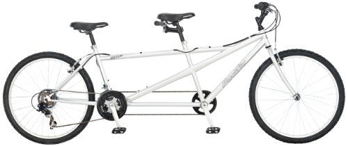 For Sale! Pacific Dualie Tandem Bicycle (26-Inch Wheels), Silver, 18-Inch